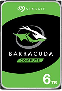 Seagate Barracuda 6TB Internal Hard Drive HDD – 3.5 Inch SATA 6 Gb/s 5400 RPM 256MB Cache for Computer Desktop PC (ST6000D...