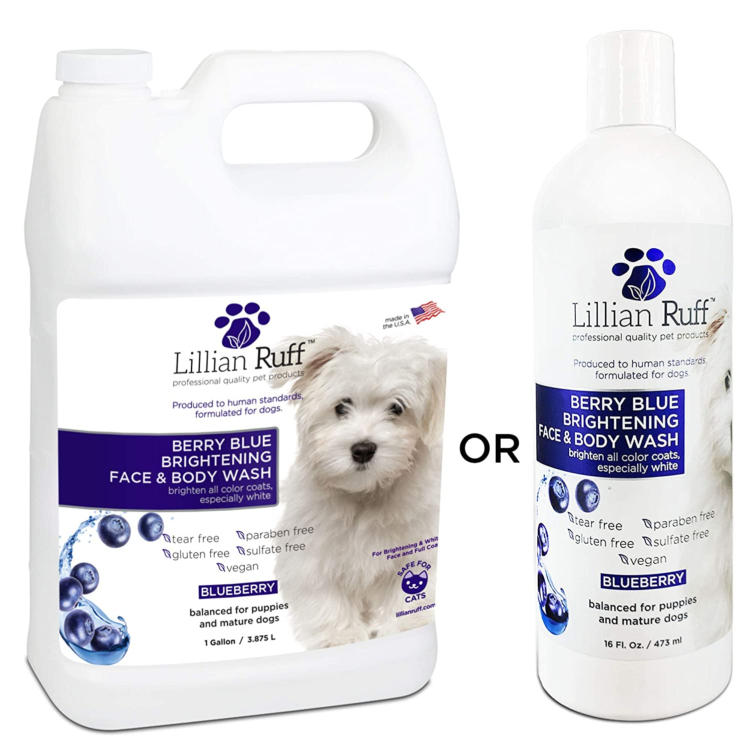 sale Lillian Ruff Berry Blue Brightening Face and Body Over item handling ☆ Dogs for Wash