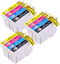 PerfectPrint - 12 Tinta Compatible Cartucho Reemplace T0711 T0712 T0713 T0714 para Epson D78 D92 DX4000 DX4050 DX5000 DX5050 DX6000 DX6050 DX4400 DX4450 DX7000F DX7400DX7450 DX8400 DX8450 DX9450 S20 SX100 SX105 SX200 SX205 SX400 SX405 SX600FW BX300F S21 SX110 SX115 SX215 SX218 SX410 SX415