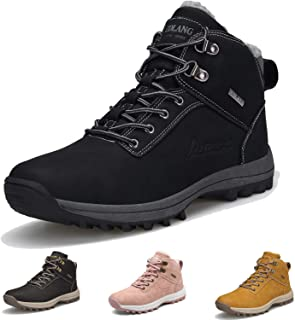 Winter Boots for Women Men Waterproof Outdoor Hiking Boots Cold Weather Insulated Ankle Booties