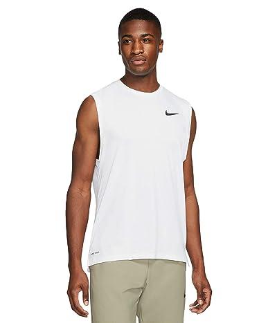Nike Top Tank Hyper Dry (White/Black) Men