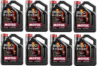 Motul 102051 Set of 8 8100 X-Clean 5W-40 Motor Oil 5-Liter Bottles