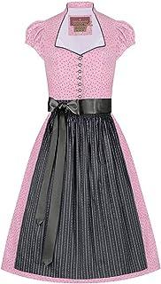 Lieblingsgwand Moser Trachten Baumwolle Mini Dirndl 60er rosa anthrazit Rosalie 005222 - limitiert, 3-teilig inklusive Dirndlbluse