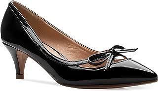 Women¡¯s Classic Closed Toe D'Orsay Bow Kitten Heel Pump...