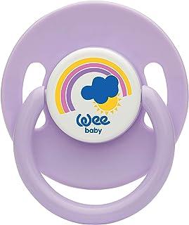Wee Baby 855 Yuvarlak Uçlu Emzik No:1 0-6 ay, Mor