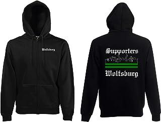 world-of-shirt / Wolfsburg Herren Kapuzenjacke Supporters Ultras