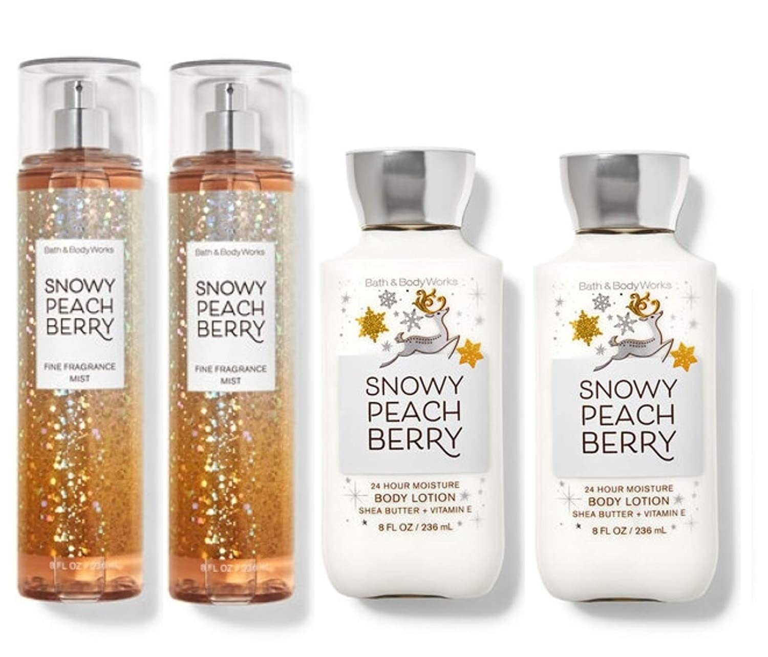 Bath and Body Works SNOWY PEACH Superlatite Super special price Pack Value 2 - Lotion BERRY