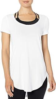 Core 10 Pima Túnica de Yoga de Manga Corta de Mezcla de algodón Camisa Tipo túnica para Mujer