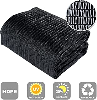 Agfabric 30% Sun-Block Shade Cloth Net Mesh Shade with Clips for Garden Patio&Plants, 8x12ft Black