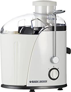 Black+Decker 400W Juicer Extractor With Wide Chute - White, JE400-B5, 2 Years Warranty