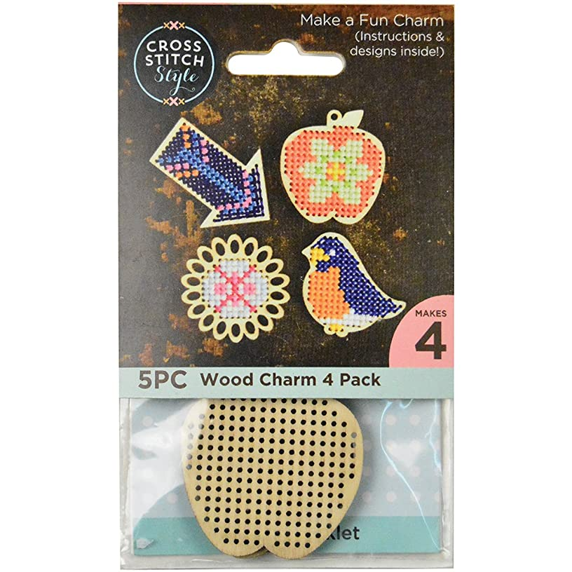 3 Birds Wood Shapes Punched For Cross Stitch-4/Pkg