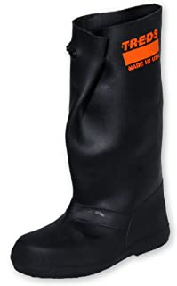 "TREDS Super Tough 17"" Pull-On Stretch Rubber Overboots for Rain, Slush, Snow and Construction, Size Large/X-Large"