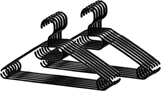 Lot de 20 cintres noirs pivotants   Qualité supérieure   Crochets pivotants à 360°   Gain de place   Idéal pour tous les v...