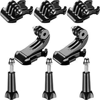 Neewer 8-in-1 Accessory Kit for Gopro, Buckle Clip Basic Mount, Vertical Surface Quick Mounting J-Hook Buckle Mount, Long Thumb Screw for GoPro Hero 7 6 5 4 3+ 3 2 1 Hero Session 5 Black AKASO EK7000 Apeman SJ4000 5000 6000 DBPOWER AKASO VicTsing WiMiUS Rollei QUMOX Lightdow Campark DJI OSMO Action Sony Sports Dv and More