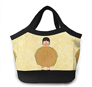 Cheny Bobs Burgers Gene Stand Up American Sitcom Lunch Bag Insulated Lunch Tote Boxes Cooler Bag For Adults Men Women Kids Boys Nurses Teens