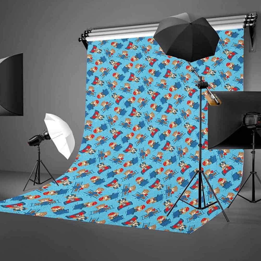 8x12 FT Vinyl Photography Background Backdrops,Abstract Geometric Frame with The Letter A Swirls Leafs and Flowers Print Background for Child Baby Shower Photo Studio Prop Photobooth Photoshoot