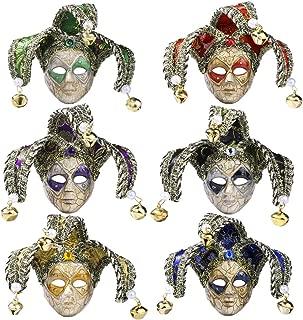 YU FENG Mini Masquerade Mask Party Decoration - 6 pcs Mardi Gras Small Mask Girl Favors Halloween Novelty Gifts(10)