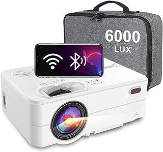 "Proyector Portatil WiFi Bluetooth 6000 Lúmenes, Artlii Enjoy2 Mini Proyector para movil 720P Nativo, 300"" Proyector Cine en Casa para Smartphone/Android/iPhone"
