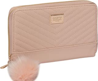 Pink Nina Travel Wallet With Gold Hardware