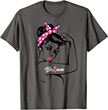 Breast Cancer Warrior TShirt Awareness Tee Support Believe