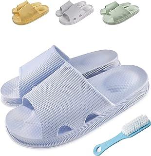 Bathroom Shower Slippers with Rush Soft Anti-slip Comfortable Lightweight Slipper for Men and Women