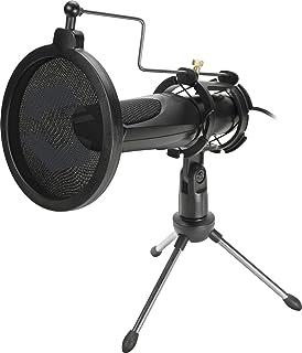 Speedlink Audis Desktop Streaming Microphone – mikrofon strumieniowy ze stojakiem i filtrem pop – Plug & Play, czarny