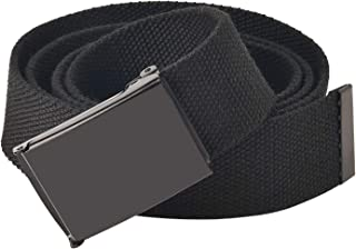 Canvas Webbing Belt with Sliding Buckle Trim to Fit Military Belt