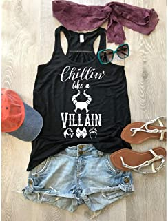 Disney The Descendants/Women's Tank/Chillin' Like A Villain/Bella Canvas Flowy Tank/Love Disney Tank Top/Women's Flowy Tanks/Women Clothing/Disney Trip Tank//Free Shipping
