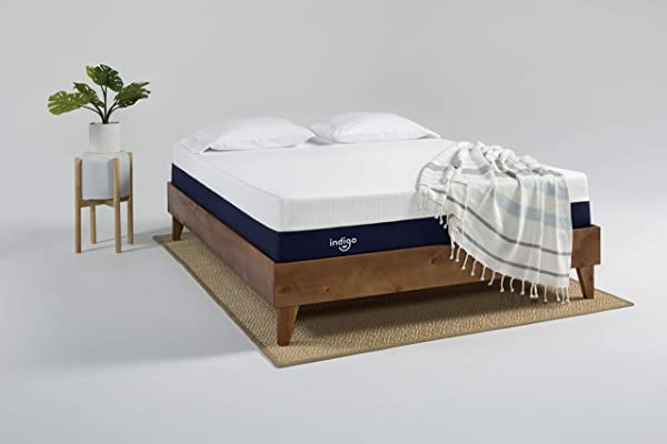 Indigo Sleep Customizable Mattress Classic Soft Supportive And Cooler Gel Memory Foam Sleep Experience For Couples Custom Comfort CertiPUR US Non Toxic Patented Clean Design Full