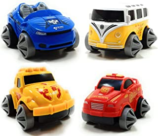 SaleOn™ Set of 4 Unbreakable Friction Powered Automobile Car Bus Fire Rescue for Kids-1056