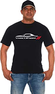 Men's Dodge Challenger Car Short Sleeve Crew Neck Black T-Shirt