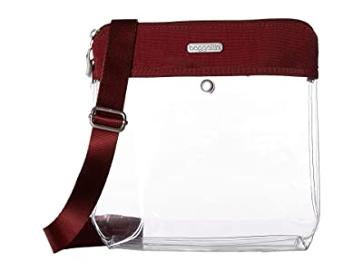 Baggallini Legacy Stadium Bags Clear Pocket Crossbody (Deep Red) Cross Body Handbags