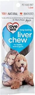 Love 'Em Liver Chews Dog Treat 1 Pieces