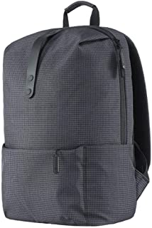 Xiaomi Shoulder Backpack Casual Bag Schoolbag Polyester Material Zipper Youth College Leisure Style 15.6 inch Laptop Computer Pack Water Resistant for Boys Girls Students Man Woman (Black)