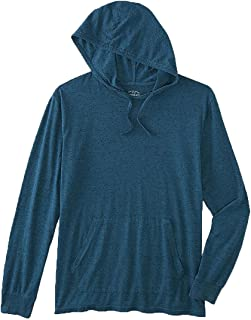 Young Men's Hooded T-Shirt. Size: Large. Color: Celestial.