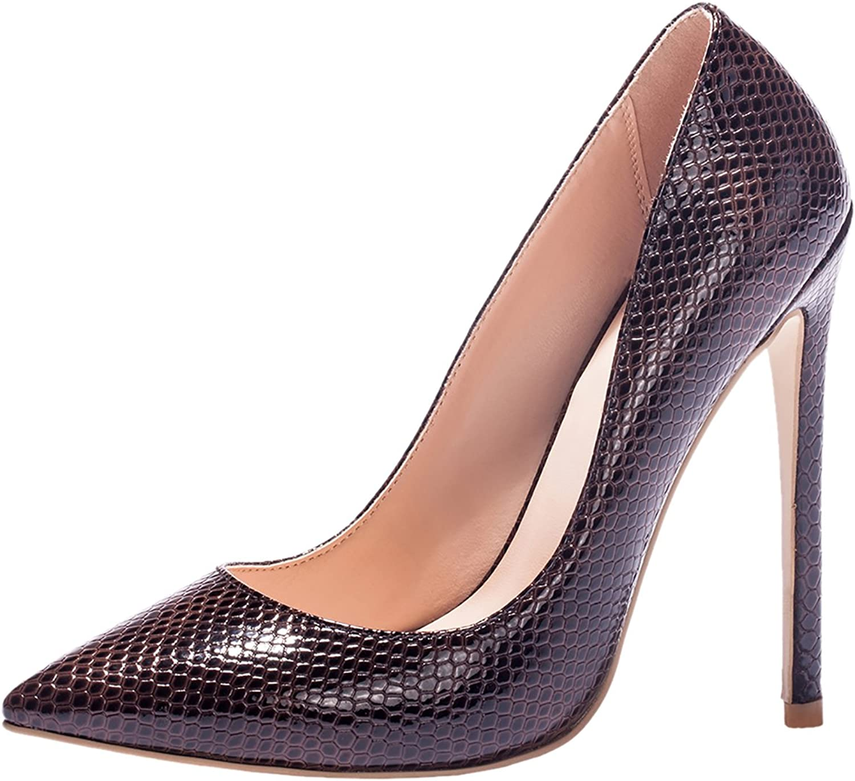 MAVIRS High Heels, Women Pumps Pointed Toe Pumps High Heel Stilettos Slip-on Dress shoes for Party Wedding Size 4-15 US 7 M US