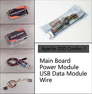 Dancing Wings Hobby AEO Apache OSD on Screen Display for RC Airplane FPV Model Plane Main Board with Power Module w/ GPS Module w/ Temp Module w/Infrared Remote Control w/ USB Cable (APSD120)