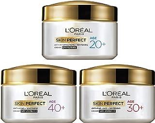 L'Oreal Paris Skin Perfect 40+ Anti-Aging Cream, 50g And L'Oreal Paris Skin Perfect 30+ Anti-Fine Lines Cream, 50g And L'Oreal Paris Skin Perfect 20+ Anti-Imperfections + Whitening Cream, 50g