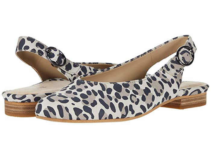 Earth  Uptown Ursula (Taupe Multi Silky Suede Leopard Print) Womens Flat Shoes