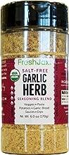 FreshJax Premium Gourmet Organic Spice Blends (Garlic Herb: Organic Salt-Free Herb Blend)