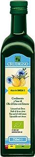 CRUDIGNO イタリア産有機アマニオイル レモンフレーバー 229g (有機JAS認証 コールドプレス製法)