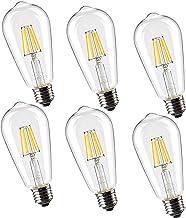 Leadleds ST21 LED Filament Bulb Edison Style Non-Dimmable E27/E26 Medium Base 60W Incandescent Light Bulb Equivalent, 2700...