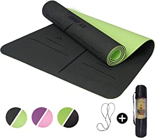 """ShapEx Large Yoga Mat (72""""x26.5""""Inch) Thick Yoga Mat ¼ Inch Thickness Non Slip,Anti-Tear,Sweat-Proof,Eco Friendly Exercise..."""
