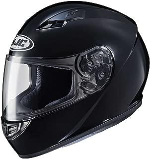 HJC Solid Adult CS-R3 Street Motorcycle Helmet - Black/Large