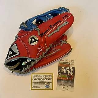 Rare Manny Ramirez Signed Authentic Game Model Baseball Glove COA - JSA Certified - Autographed MLB Gloves