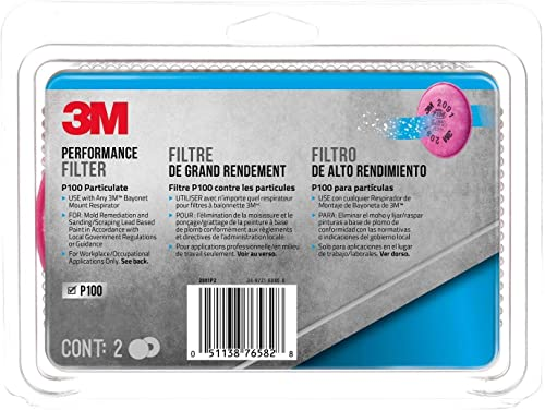 3M Particulate Filter P100, 2-Count
