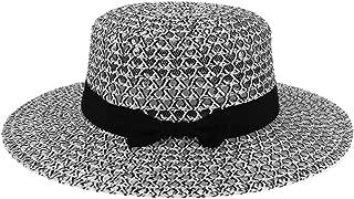 LOVEHATS Women Summer Beach Straw Hat Bow Boho Weekend Picnic Hat For Women Deep Color Fashion Hat