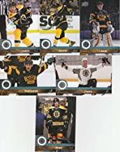 2017-18 Upper Deck Complete Boston Bruins Team Set of 13 Cards: Brad Marchand(#13), Brandon Carlo(#14), David Backes(#15), Torey Krug(#16), Tuukka Rask(#17), Zdeno Chara(#18), David Krejci(#263), Patrice Bergeron(#264), David Pastrnak(#265), Ryan Spooner(#266), Riley Nash(#267), Matt Beleskey(#268), Frank Vatrano(#269)