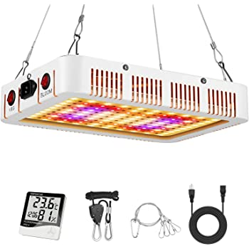 LeFreshinsoft 1000 Watt LED Grow Light for Indoor Plants Full Spectrum with UV Plant Lights Grow Lamp Dual Switch for Indoor Plants Veg and Flower 1000w (10W LEDs 100Pcs)