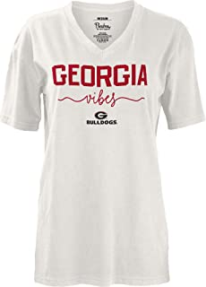 Pressbox Georgia Bulldogs Women's School Vibes Oversize V-Neck Tee